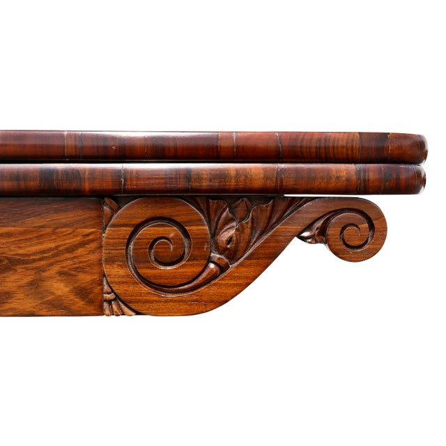 Early 19th Century Pair of Regency Rosewood Games Tables For Sale - Image 5 of 13