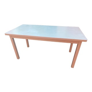Vintage Mid Century Modern Holga Metal Table Desk For Sale