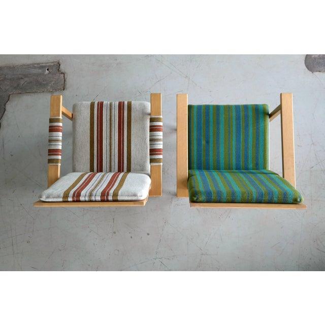 Oak Pair of Børge Mogensen Model 2257, Oak Lounge Chair for Fredericia Stolefabrik For Sale - Image 7 of 10