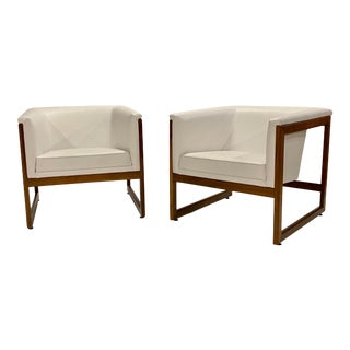 Milo Baughman Cube Chairs For Sale
