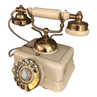 Vintage Mid-Century Cream Dial Phone For Sale
