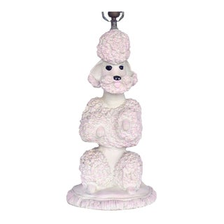 Phyllis Morris Sculptural Poodle Table Lamp For Sale