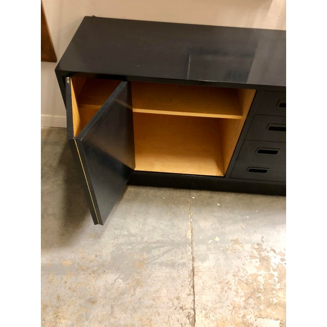 Mid Century Black Lacquered Danish Cabinet For Sale - Image 4 of 8