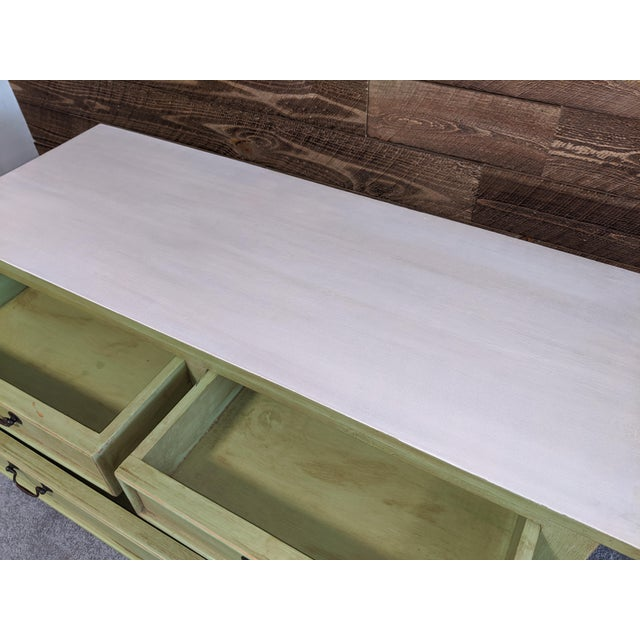 1950s Mid Century Green Chest With Drawers For Sale - Image 11 of 13