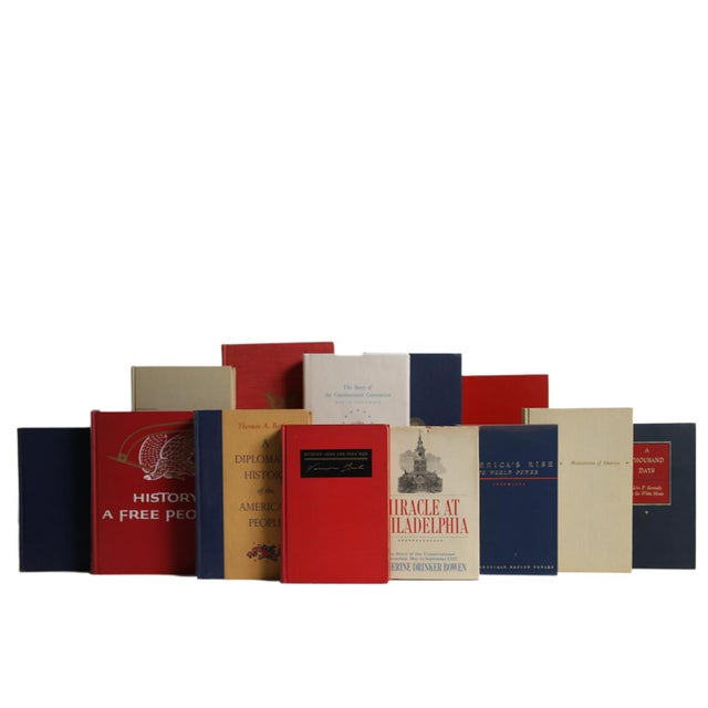 The American History Book Set, S/15. Features a blend of fifteen authentic midcentury books published 1940-1969. Discover...
