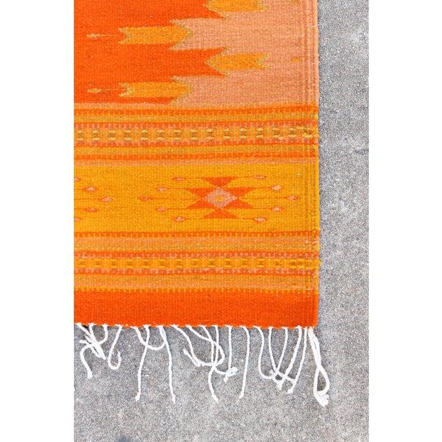 Orange & Yellow Southwestern Wool Rug - 3′6″ × 6′ - Image 3 of 4