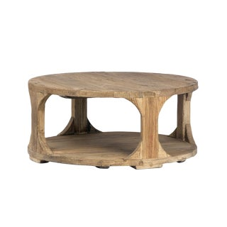 Carved Elm Coffee Table