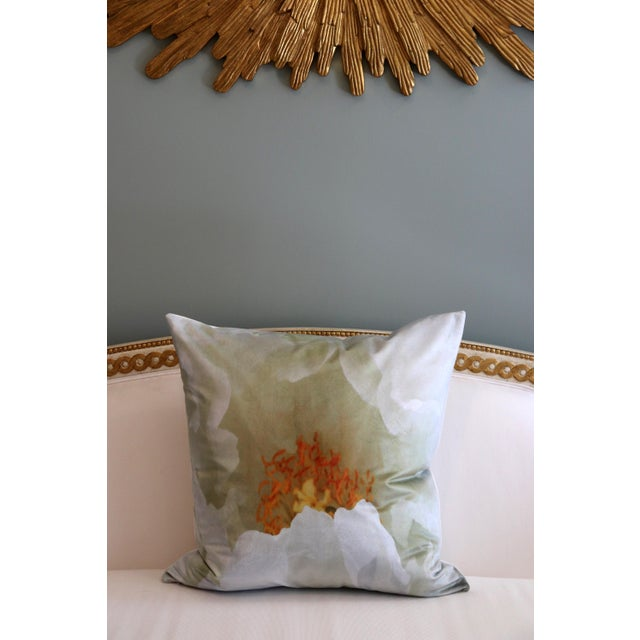 White Tree Peony Bloom in Rodin Museum Garden Paris Photo Pillow For Sale In Memphis - Image 6 of 13