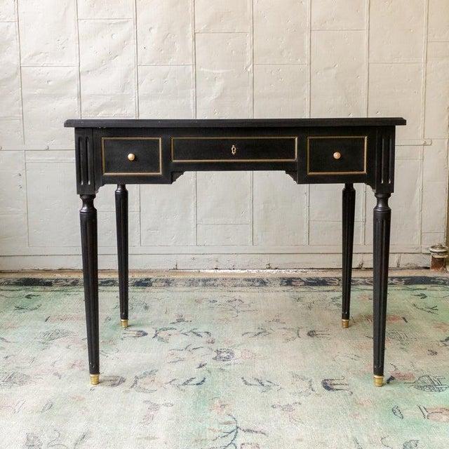 1920s French Ebonized Mahogany Writing Desk For Sale - Image 4 of 13
