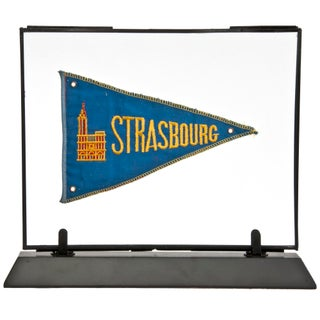 Framed Vintage French Strasbourg Pennant For Sale