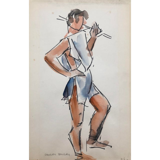 1950s Studio Life Class Study of a Man by Stanley Brodey, 1950s For Sale - Image 5 of 5