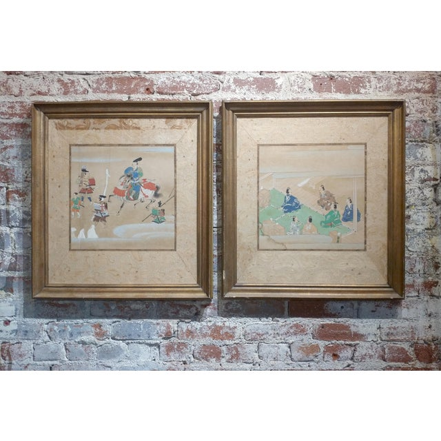 Chinese Antique Paintings on Paper - a pair For Sale - Image 10 of 10