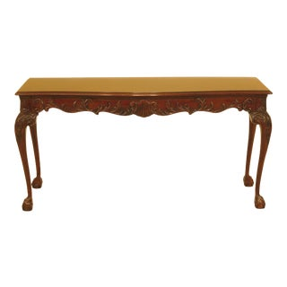 1990s Chippendale Heritage Ball & Claw Mahogany Sofa or Hall Table For Sale