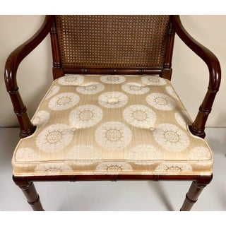 Pair of Regency Style Faux Bamboo Arm Chairs by Hickory Chair Preview