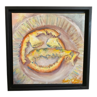 """""""Lunch"""" Original Framed Oil Painting For Sale"""