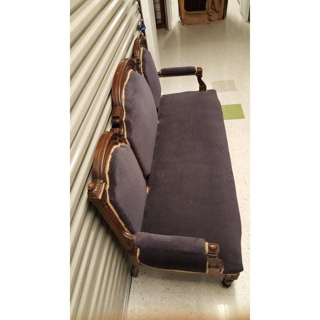 Antique Eastlake Design Settee - Image 4 of 8