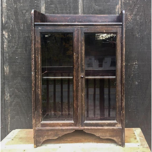 Distressed Wooden Bookcase For Sale - Image 11 of 11