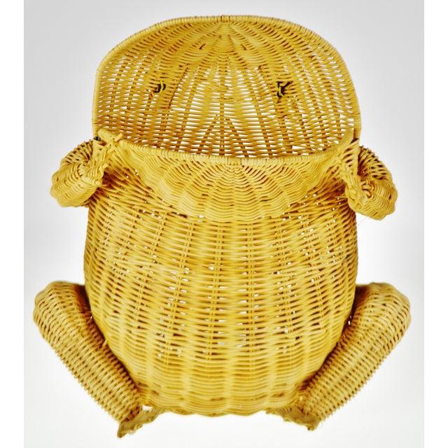 Wicker Vintage Natural Wicker Frog Planter Basket For Sale - Image 7 of 13