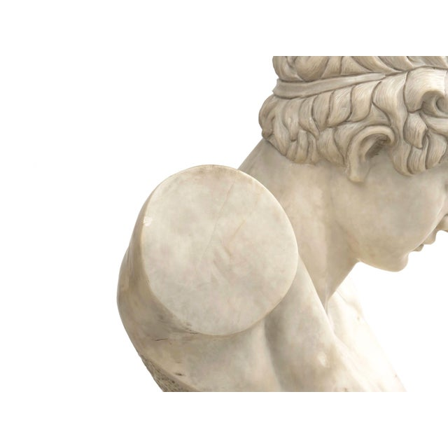 Classical Marble Bust of Hermes Holding Dionysus After the Antique by Praxiteles For Sale - Image 11 of 13