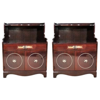 1940s Art Deco Grosfeld House Mahogany Nightstands - a Pair For Sale
