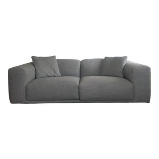 Italian Design Within Reach Grey Kelston Sofa For Sale