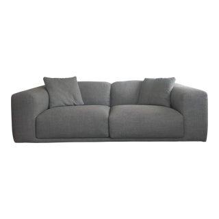 Italian Design Within Reach Grey Kelston Sofa For Sale