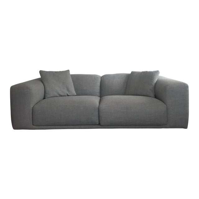 Italian Design Within Reach Grey Kelston Sofa | Chairish