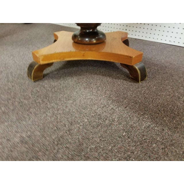 Wood Antique Biedermeier Round Side Table For Sale - Image 7 of 11