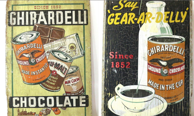 Wall Sized 1915 Chocolate Billboard Ghirardelli Sf Sign   Image 2 Of 6