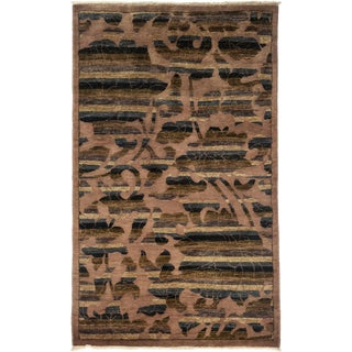 """Arts & Crafts Hand Knotted Area Rug - 3'1"""" X 5'2"""" For Sale"""