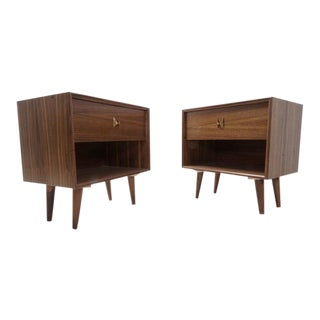 Mid Century Brasilia Style Night Stands - a Pair For Sale