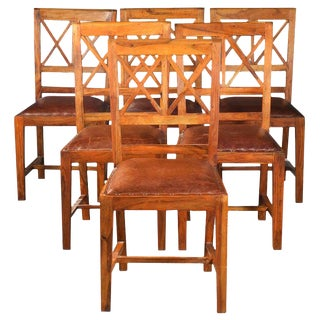 1940s Vintage Rustic Dining Chairs- Set of 6 For Sale
