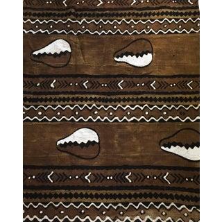 "Superb Bogolan Mali Mud Cloth Textile 40"" by 64"" For Sale"