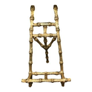 Vintage C1960s Maison Bagues France Gilt Bronze Faux Bamboo Picture Easel For Sale