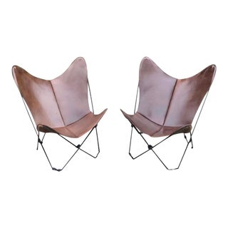 Mid Century Folding Butterfly Chairs - a Pair For Sale