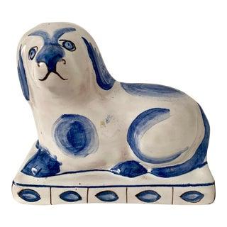 Vintage Ceramic Dog Sculpture From Portugal For Sale