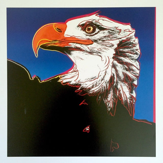 """This Andy Warhol Estate rare vintage 1992 Endangered Species collector's offset lithograph Pop Art print """" Bald Eagle """"..."""
