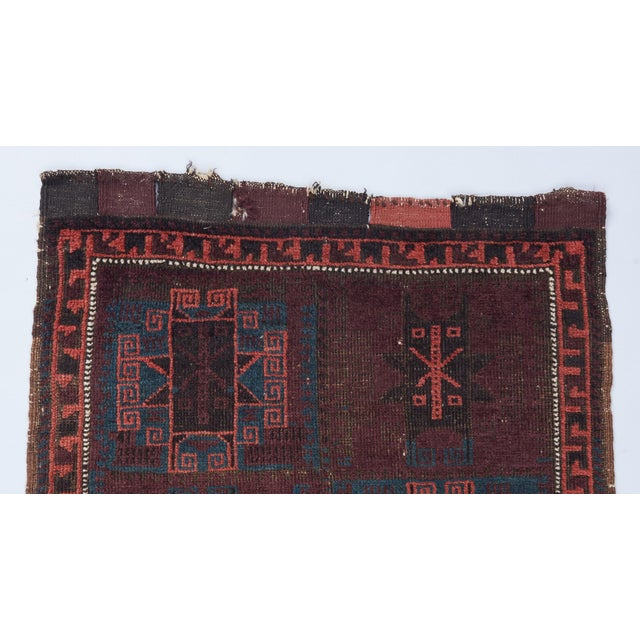 Boho Chic Baluch Bagface Rug - 2′ × 2′ For Sale - Image 3 of 5