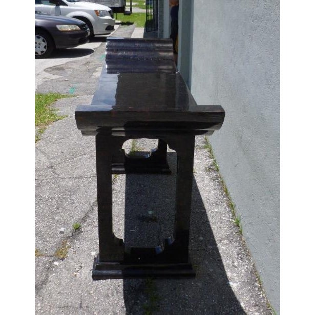 1970s Maitland Smith Tessellated Horn Console Table For Sale - Image 9 of 11
