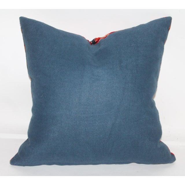 Patterned Velvet Pillow For Sale - Image 4 of 5