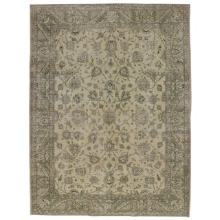 "French Country Style Rustic Turkish Sivas Area Rug - 9'11"" X 13'2"" For Sale"