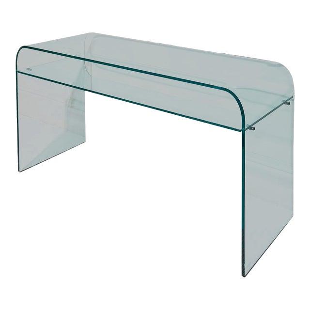 Elmentare Glass Desk For Sale