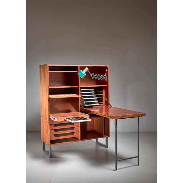 Secretaire with fold out desk, Germany, 1960s For Sale - Image 4 of 6