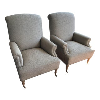 Majestic Gray Club Chairs - a Pair
