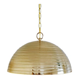 "Large Solid Brass ""Beehive"" Pendant Light"