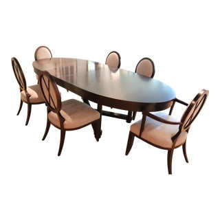 Barbara Barry for Baker Dining Table and Chairs - 7 Pieces For Sale
