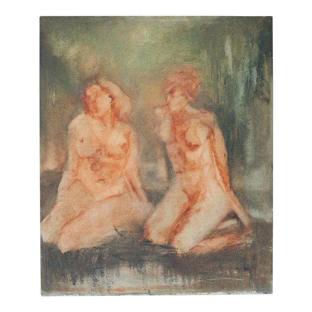"""""""Sisterhood"""" Impressionist Nude Painting - Image 1 of 5"""