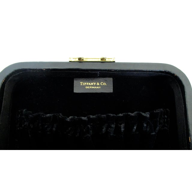 0212ccdd8 Late 20th Century Tiffany & Co. Black Leather Jewelry Box Case For Sale -  Image