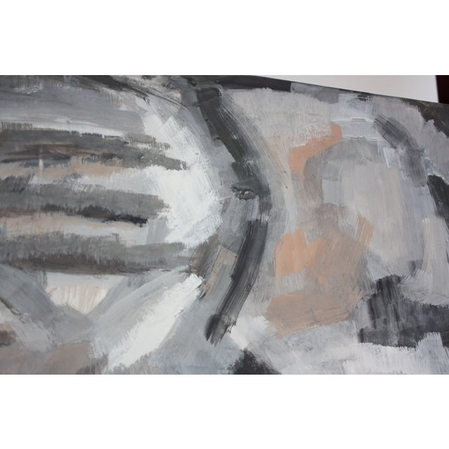 Paper Abstract Oil and Gouache on Board by Elizabeth Nachman Erlanger For Sale - Image 7 of 11