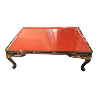 Chinese Red Tray Table